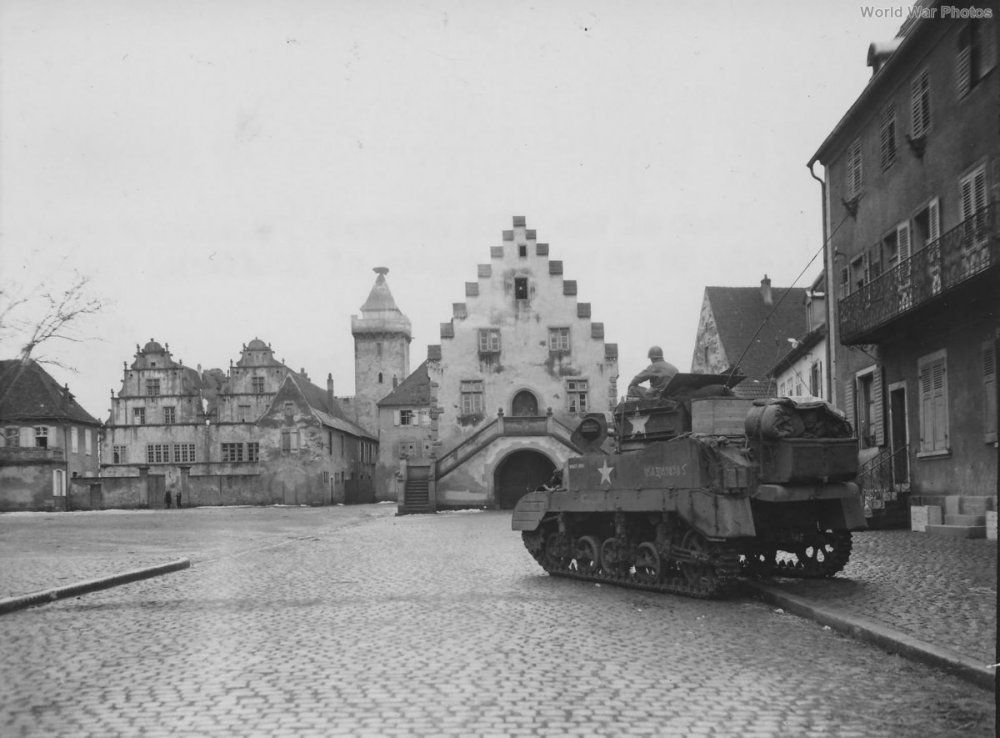 "M5A1 ""Shanty Irish"" 12th Armored Division Rouffach, France, February 1945.jpg"